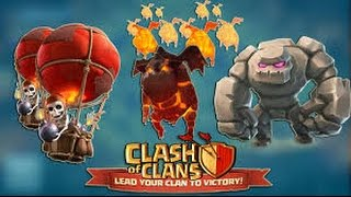 getlinkyoutube.com-3 Starring TH9's with Low Level Heroes! Clash of Clans