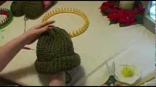 getlinkyoutube.com-Knitting an Adult Hat on Round Loom - Start to Finish
