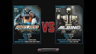 getlinkyoutube.com-Real Steel WRB Axelrod VS Albino NEW ROBOT Update Halloween