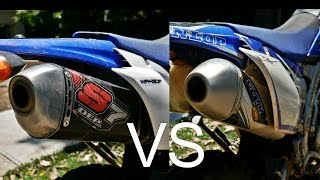 getlinkyoutube.com-SOUND TEST - GYTR FMF Powercore 4 Exhuast vs DEP S7 full Exhuast(2012 WR450F)(4K)
