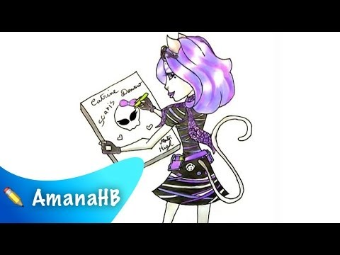 Speed Drawing of Catrine Demew from Monster High (HD)