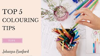 getlinkyoutube.com-Johanna Basford - My Top 5 Colouring Tips!