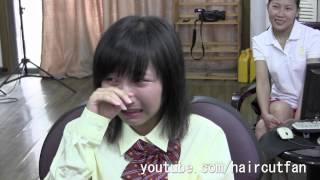 getlinkyoutube.com-刈り上げJK 4(泣き) ☆ High School Girl Haircut  断髪