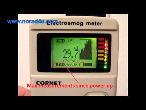 THE CORNET ED75 RF and ELF EMF/EMR meter