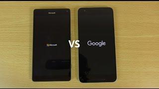 getlinkyoutube.com-Lumia 950 XL VS Nexus 6P - Speed & Camera Test!