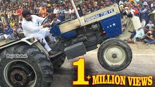 getlinkyoutube.com-Swaraj 735 Atiana  Vs Sawraj 855 ਟਰੈਕਟਰ ਟੋਚਨ Traktor Tochan Sudhar 2016