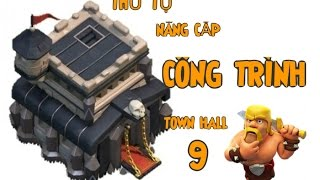 getlinkyoutube.com-Clash of Clans Huong dan thu tu nang cap cong trinh TH9