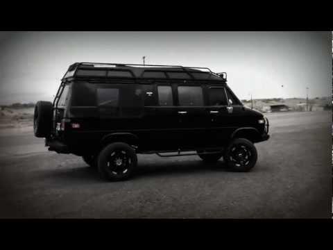 Custom Black Lifted 4x4 GMC Van