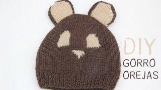 getlinkyoutube.com-DIY Cómo hacer gorro de lana con orejas para bebe