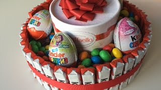getlinkyoutube.com-Как сделать торт из киндеров! Готовят дети. Cooking kids.