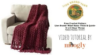 getlinkyoutube.com-How to Crochet: Lion Brand Yarn's 5 1/2 Hour Throw