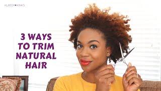 getlinkyoutube.com-3 Ways to Trim Natural Hair by Yourself | Klassy Kinks