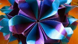getlinkyoutube.com-Origami ✿ Khanuma ✿ Kusudama