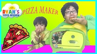 getlinkyoutube.com-Teenage Mutant Ninja Turtles Pizza Oven Toys For Kids Family Fun Activity Ryan ToysReview