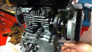 getlinkyoutube.com-How to remove the governor from a 3.5hp go kart engine lawn mower