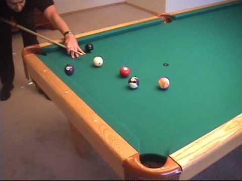 Using the 30 and 90 degree rules to aim billiard, carom, and kiss shots, from VEPS-I (NV B.69)