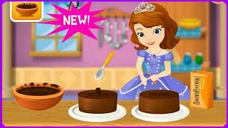 getlinkyoutube.com-Watch & Learn with Sofia Cooking Princess Cake Game Review-Cooking Games Tutorials