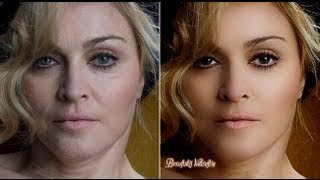 getlinkyoutube.com-Photoshop CC retouching Madonna урок ретуши