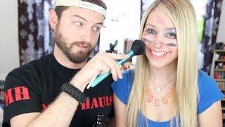 getlinkyoutube.com-Husband Does My Makeup
