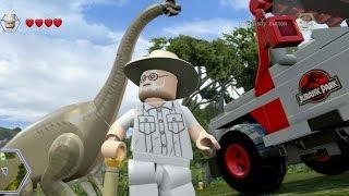 getlinkyoutube.com-LEGO Jurassic World - Jurassic Park Free Roam Gameplay (Isla Nublar)