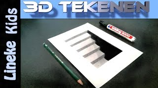 getlinkyoutube.com-Hoe teken je een 3D Keldertrap / 3D #26
