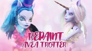 getlinkyoutube.com-☽ Moonlight Jewel ☾ Repaint Transform Avea Trotter Monster High Custom OOAK Unicorn