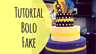 getlinkyoutube.com-Tutorial: bolo fake festa infantil cake party