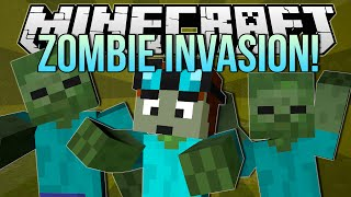 getlinkyoutube.com-ZOMBIE INVASION | Minecraft: Blocking Dead Minigame!