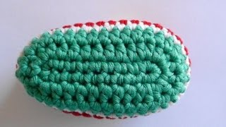 getlinkyoutube.com-How to Crochet Baby Bootie Sole - Crochet Baby Bootie Sole