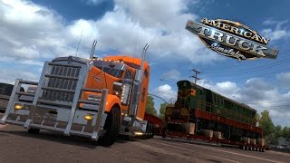 getlinkyoutube.com-American Truck Simulator | 925 cv Kenworth W900 | Carga 80 tons