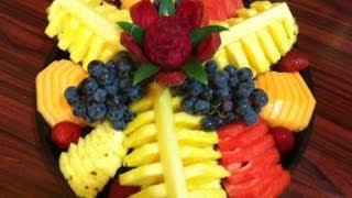 getlinkyoutube.com-Platon de fruta para regalo o fiesta #2  Ahorra dinero hazlo tu mismo DIY - La receta de la abuelita