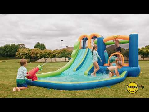 Happy Hop Jump and Splash inflatable  Double Water Slide - Order now for Christmas Delivery
