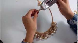 getlinkyoutube.com-DIY: Collar Con Cadena Y Perla - Colore Accesorios