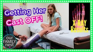GETTING HER CAST OFF & HAD TO GET A NEW ONE!
