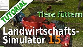getlinkyoutube.com-LS15 Tutorial: Tiere füttern, Mischration, Silage, Stroh, Heu und Ballen pressen