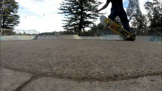Backside 5-0 to tail