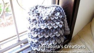 getlinkyoutube.com-Crocodile Stitch Draw Bag - Crochet Tutorial