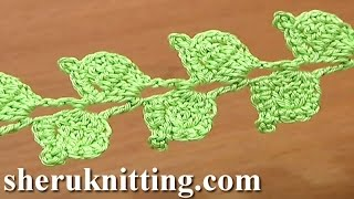 getlinkyoutube.com-Crochet Twig Branch Cord Leaves Tutorial 39 Double Crochet Decrease