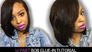 getlinkyoutube.com-How to Make a U-Part Bob | Side Part