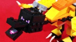 getlinkyoutube.com-LeLe 마인크래프트 엔더드래곤 보스 몹 용머리 레고 짝퉁 조립 리뷰 Lego knockoff Minecraft Ender Dragon