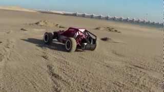 Kyosho sandmaster going wild on the beach