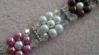 getlinkyoutube.com-Pearl Flower Bracelet