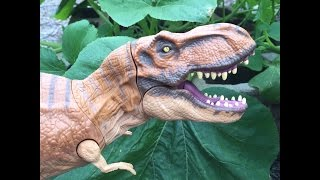 getlinkyoutube.com-Hasbro Jurassic World Stomp & Strike Tyrannosaurus rex Review