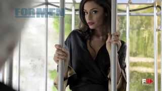 "getlinkyoutube.com-RAFFAELLA FICO for ""FOR MEN MAGAZINE"" Backstage Photoshoot 2013 (censored) by Fashion Channel"