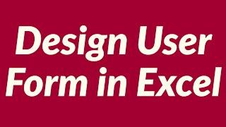 getlinkyoutube.com-Design user form in Excel