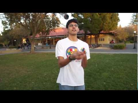 Rubik's Cube Solved While JUGGLING!?!