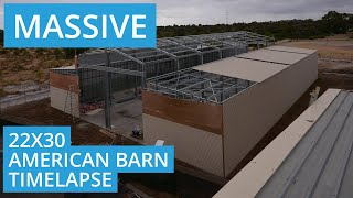getlinkyoutube.com-Massive American Barn Shed Time Lapse - Perth, Western Australia
