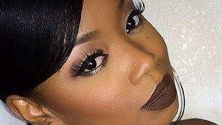 getlinkyoutube.com-Fall Vampy Vixen Makeup : Chocolate Brown Lips