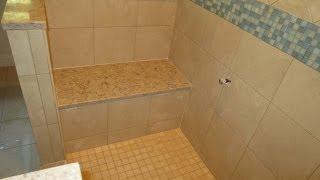 getlinkyoutube.com-Time lapse complete tile shower installation