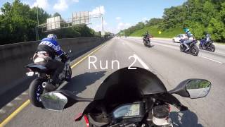 getlinkyoutube.com-2015 Yamaha R1 vs 2012 Honda CBR 1000RR aka Fireblade
